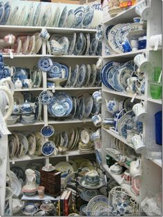 blue & white heaven! I hope I have this many pieces someday. I just love it!