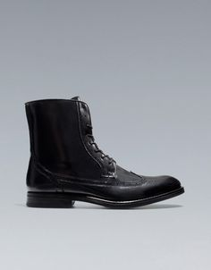 DRESSY BROGUE ANKLE BOOT - Shoes - Man - ZARA India