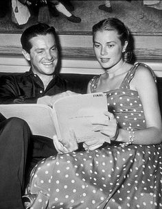 Bob and Grace consult their script for Dial M for Murder