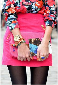floral + pink #street#style#color