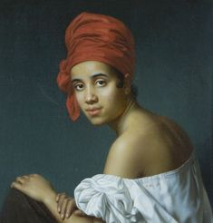"""""""Jacques Amans: Creole in a Red Tignon, ca. 1840 Medium oil on canvas Collection: Historic New Orleans Collection, New Orleans, LA, United States Image via Wikimedia"""" African American Hairstyles, African American History, Native American, Dahlia, Rihanna, Louisiana Creole, Spanish Men, Black History Facts, Art History"""