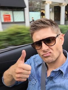 21 Exceptionally Hot Pictures of Jensen Ackles - This Flawless Selfie @massageonthefly  - if this doesn't make you want to watch Supernatural, there is nothing I can do or say to convince you.