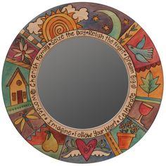 Sweetheart Gallery: Contemporary, Fine American Craft, Art, Design, Handmade Home & Personal Accessories - Sticks Circle Mirrors, MIR011, MIR012-S39186, Artistic, Artisan, Designer Mirrors