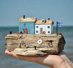 Me gusta, 33 coment - Wood Decora la Maison Driftwood Projects, Driftwood Art, Driftwood Ideas, Beach Crafts, Diy And Crafts, Arts And Crafts, Wooden Art, Wooden Crafts, Craft Projects