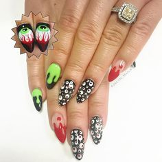 #nails #nailart #nailporn #almondnails #stilettonails #gelnails #halloween #halloweennails #bloodnails #dripnails #Jxlyn_Nails #vegasnails #vegas