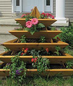 Plant Pyramid Raised Planters, , large