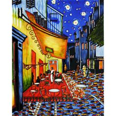 Van Gogh 'Cafe Terrace at Night' Wall Tile | Overstock.com