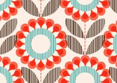 Scandinavian pattern by Rachel Cave. Perfect for entryway behind pics