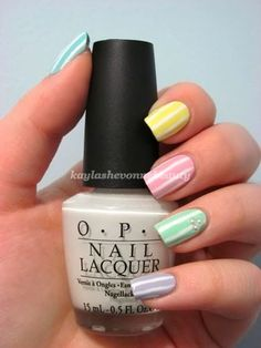 Pastel Stripe Nails