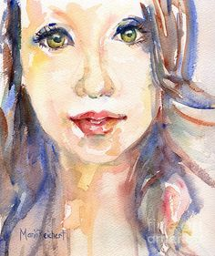 Her Eyes by Maria's Watercolor