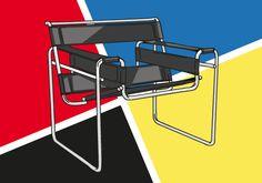 wassily chair by Marcel Breuer bauhaus