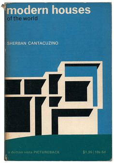 A great little collection of old architectural paperbacks here. On the cover is Rudolph's Milam Residence.      modernist / graphics / colors / contrast