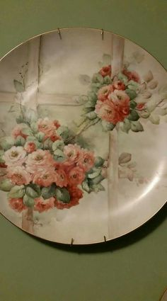 Hand Painted Plates, Hand Painted Ceramics, Decorative Plates, Decoupage Plates, China Plates, Vintage Plates, Victorian Art, China Painting, Pottery Painting