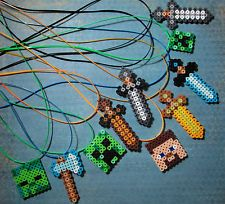 MINECRAFT Inspired Sword/Character Necklace Sets or Single -Birthday Party Favor