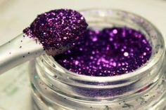 purple and glitter is love.