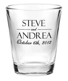 Personalized shot glasses -- they have so many to choose from