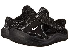 Nike Toddler Sunray Protect Water Sandals BLACK/WHITE water sandals for boys in excellent used condition. Nike Sandals, Black Sandals, Nike Shoes, Baby Nike, Flip Flop Sandals, Flip Flops, Boys Shoes, Black Nikes, Black White