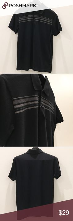 47cc89744 Hugo Boss Men's Polo Shirt Size Large EUC Color: Black/Gray Super soft.