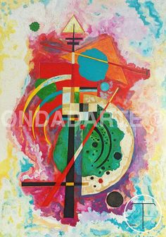 Quadro Dipinto moderno geometrico contemporaneo copia di OndadArte