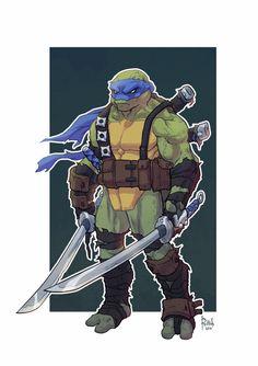 http://kotaku.com/nice-animated-ninja-turtles-redesigns-artist-alex-redf-1699399441