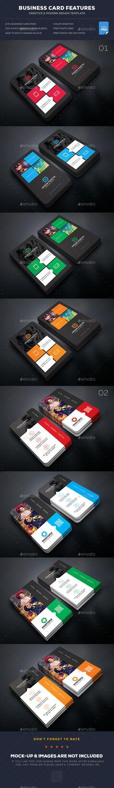 Photography Business Card Templates PSD Bundle