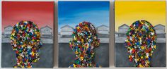 Rory Emmett, 'Untitled' Oil on canvas, 21 x each Friendship Bracelets, Oil On Canvas, 21st, Painting, Jewelry, Jewlery, Jewerly, Painting Art, Schmuck