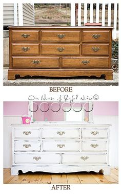 A Work of Heart / A story of how finishing my mother's dresser, was therapeutic for my grieving heart.  http://houseofjoyfulnoise.com/big-furniture-refinish-a-work-of-heart/  furniture_refinishing, #furniturerefinishing #beforeandafter