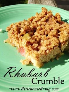 I can't wait until the fresh rhubarb is ready so I can make more of these Rhubarb Crumble Bars!