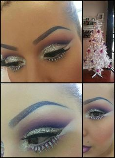 christmas makeup?? Don't do this! You'll look like a drag queen!!!! What's wrong with the women in this world??