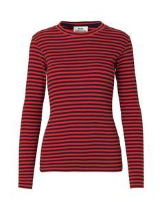 37000ae2772e 2x2 soft stripe Tuba T-shirt Navy Red Bluser Til Kvinder