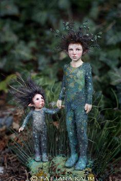 Miniature artdolls by Tatjana Raum
