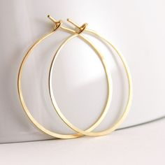 Gold Hoop Earrings, Gold Fill, Handmade Jewelry, 1 Inch Hoops by aubepine o. Diamond Hoop Earrings, Silver Hoop Earrings, Heart Earrings, Crystal Earrings, Dangle Earrings, Metal Jewelry, Silver Jewelry, Fine Jewelry, Jewellery