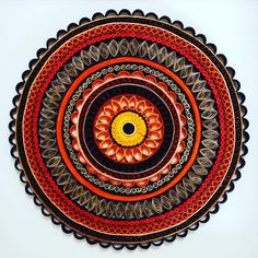 """""""My favourite #mandala of all time. Inspired by the gorgeous colours of the #Australia #outback, burnt orange, ochre, taupe, sunshine, brown, and rust, and…"""""""