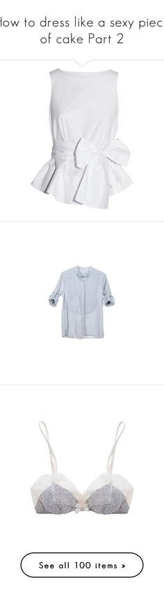 """""""How to dress like a sexy piece of cake Part 2"""" by c0ffee-kid ❤ liked on Polyvore featuring tops, blouses, shirts, blusas, white, sleeveless, sleeveless shirts, white shirt, white blouse and shirts & tops"""