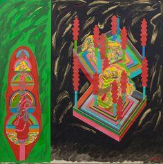 Keiichi Tanaami at Nanzuka Keiichi Tanaami, Modern Art Pictures, Japanese Pop Art, Contemporary Art Daily, Lost Soul, Carpenter, Gouache, Painters, Art Projects