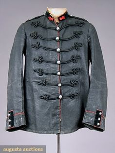 Augusta Auctions, May 2007 Vintage Clothing & Textile Auction, Lot French Linen Firemans Jacket, Late C Types Of Jackets, Jacket Types, Vintage Sportswear, Mens Attire, Clothing And Textile, Tennis Clothes, Historical Clothing, Style Guides, Outfits