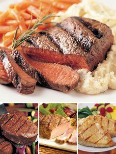 Steak, Pork and Chicken