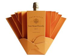 Veuve Clicquot champagne ice bucket package design - BRILLIANT!