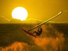 Wind Surfing at Sunset - Hawaii  Proshots Professional Photos & Wallpapers | New Photos - General