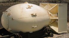 "52 Replica of ""fat Man,"" atomic bomb dropped on Nagasaki."
