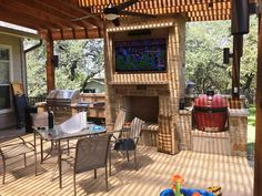 From simple deck to rugged Texas backyard man cave … Score! | Archadeck Outdoor Living