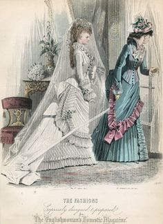 November fashions, 1875 England, The Englishwoman's Domestic Magazine