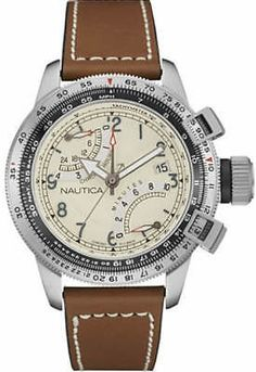 780f7963e8ad8 Men's Nautica Chronograph Tachymeter Watch NAD24504G Stainless Steel Case,  Casual Watches, Watches For Men