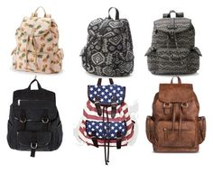 """Cute Backpacks For School"" by hannahjq on Polyvore featuring Candie's, Forever 21 and Mudd"