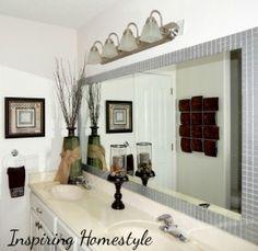 bathroom mirror instead of tiles - Google Search