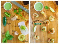 Grilled Spicy Green Shrimp, easy, quick, healthy recipe #shrimp #healthy #easy #herbs