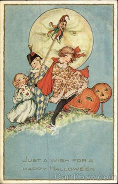 Children and Jack O' Lanterns Samuel L. Schmucker Halloween