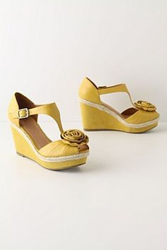 I love these shoes, but I think I would break my ankle if I tried them. #anthropologie