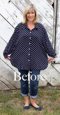 polka dot shirt redesign tutorial, a lot of redesign/diy tutorials