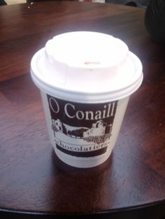 O Conaill hot chocolate in St George's Market in Belfast, just AMAZING, comes in just below Fassbender and Rausch!!